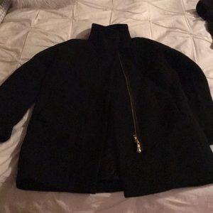 J Crew Black Coat